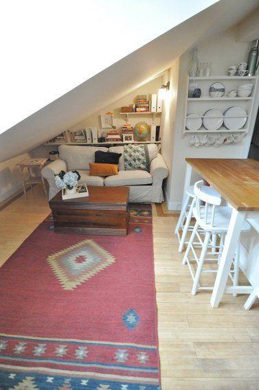 Elizabeth & Nick's Attic Apartment in Manhattan — House Tour | Apartment Therapy