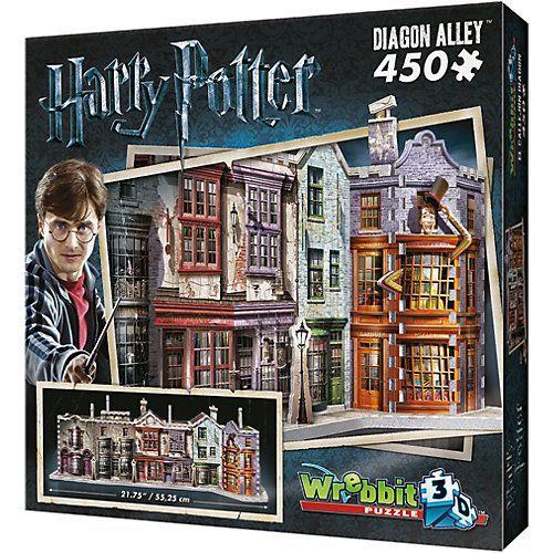 Wrebbit 3d Puzzle 450 Teile Harry Potter Winkelgasse Backsteinmauer Harry Potter Puzzle Teile Winke In 2020 Diagon Alley Harry Potter Diagon Alley Harry Potter