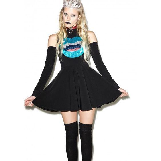 Indyanna Lilly Glitter Vamp Skater Dress ($105) ❤ liked on Polyvore featuring dresses, glitter dress, stretch dress, sleeveless skater dress, skater dress and stretchy dresses