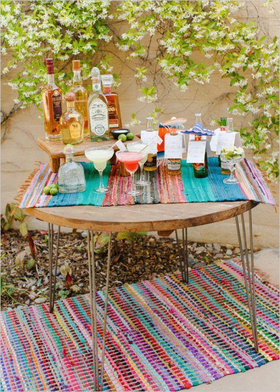 Margarita Bar DIY. #fiesta #whattobuy #weddingchicks Design: Brooke Keegan ---> http://www.weddingchicks.com/2014/04/30/make-your-own-taco-bar/