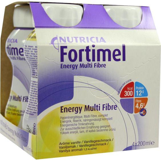 FORTIMEL Energy Multi Fibre Vanillegeschmack:   Packungsinhalt: 4X200 ml Flüssigkeit PZN: 01125241 Hersteller: MCM KLOSTERFRAU…