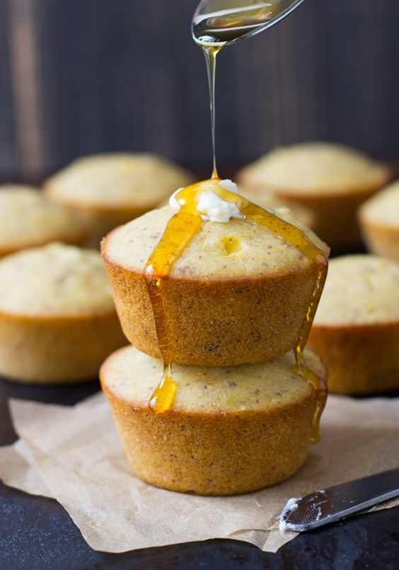 Cornbread muffins, Cornbread and Vegans on Pinterest