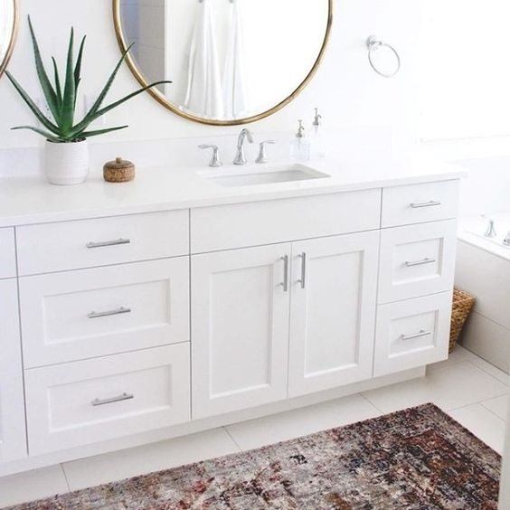 traditional bathroom runner rugs and vanities on pinterest