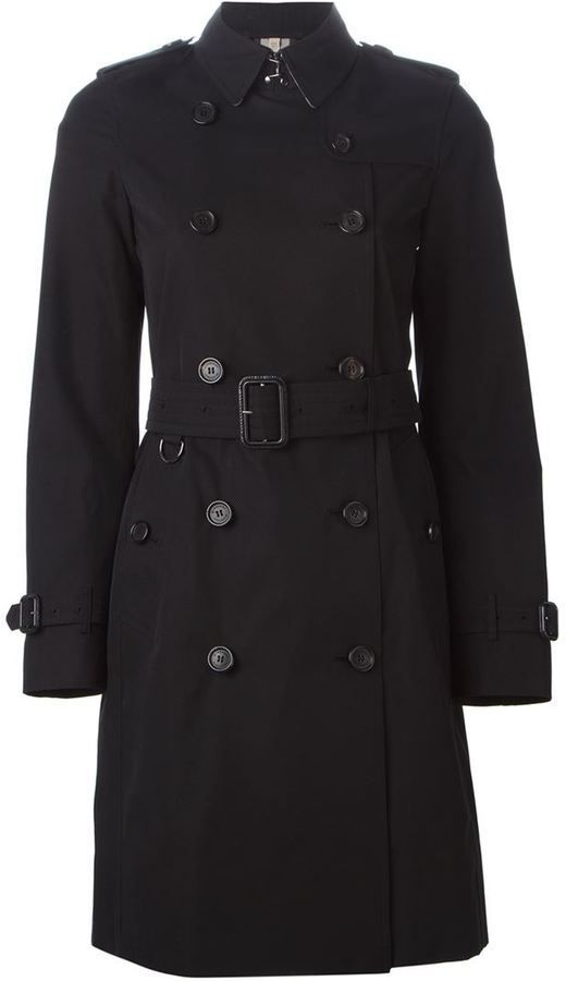 $1,718, Black Trenchcoat: Burberry Belted Trench Coat. Sold by farfetch.com. Click for more info: https://lookastic.com/women/shop_items/307186/redirect