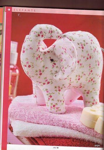 Artes e Idéias: elefante em tecido