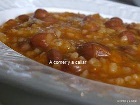 A comer y a callar: POTAJE DE JUDIAS PINTAS CON ARROZ