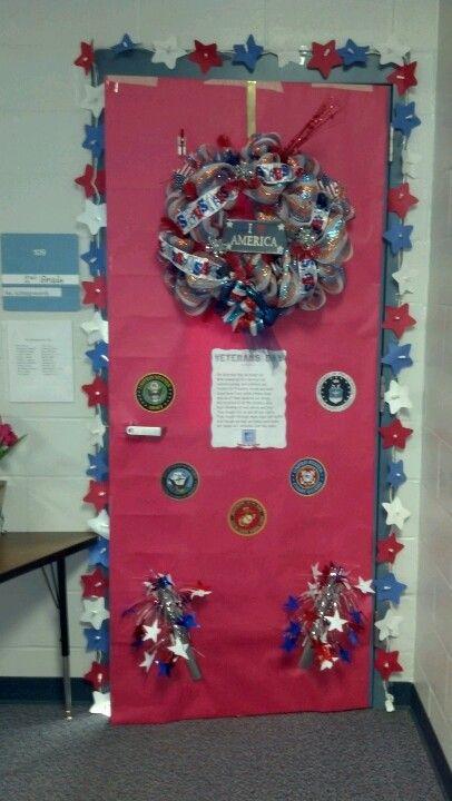 Veterans Day Classroom Door Decoration Ideas ~ Door decorated for veterans day th of july and other