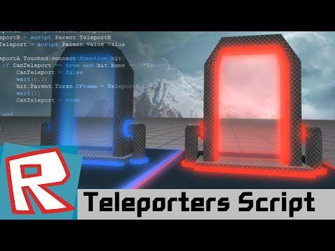 Roblox Tutorial Teleporters Script Youtube Roblox Tutorial