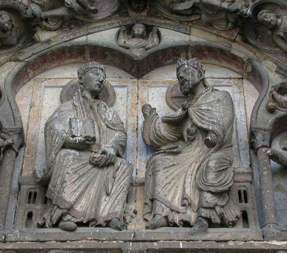 Detalle de la portada occidental de la catedral de Senlis, 1170.