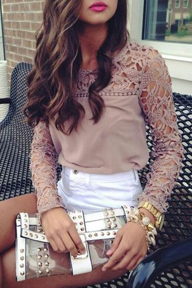 Lace top: