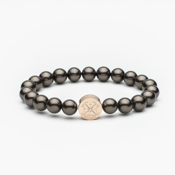 Stephanie Pearl Bead Brown/Rose Gold (Pre-order, ships mid-July)