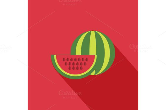 Check out Watermelon Icon by robuart on Creative Market
