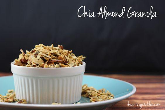 chia almond granola made w/ coconut oil & egg whites - dairy-free & gluten-free via @elizparent