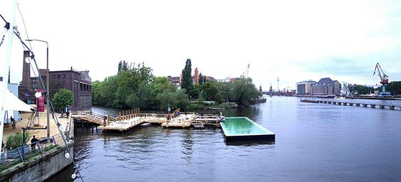 El río berlinés Spree como piscina- Arquiscopio