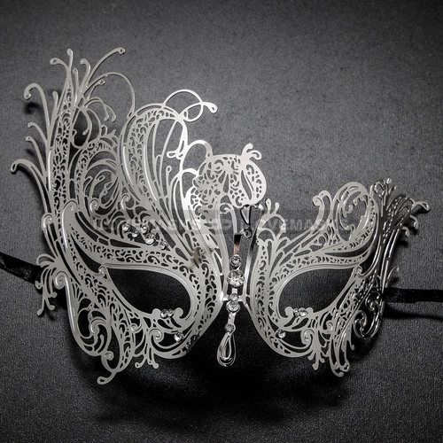 Charming Laser cut Venetian Masquerade Mask with Rhinestones