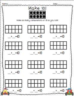 math worksheet : math make ten bits of first grade brigid s daily lesson log  : Math Makes Sense 7 Worksheets