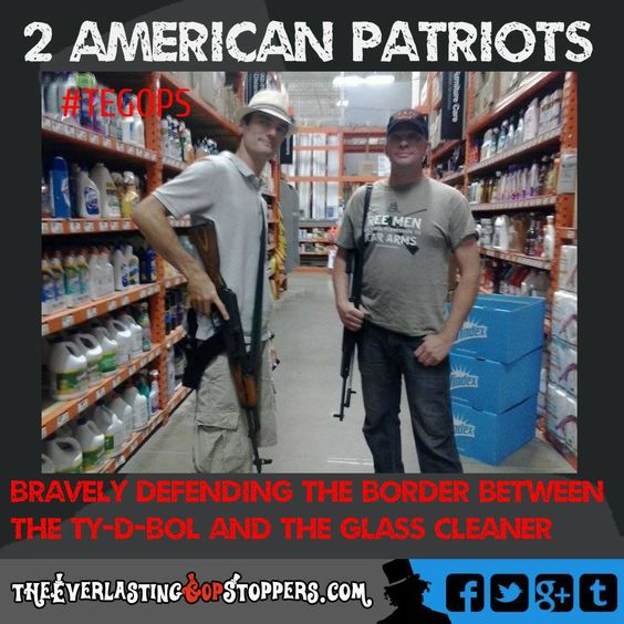 OP~If you're such a fucking coward that you can't walk into a Home Depot without a military grade weapon, you are highly unstable and need immediate medical attention and most likely a stay in a mental hospital.