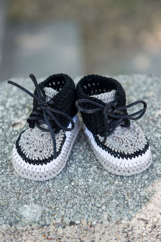 Crochet Baby Sneakers, Crochet Newborn Booties, Soft Sole Baby Shoes,Baby Boy Shoes,Infant Boy Booties, Crochet Booties for Boys, on Etsy, $21.95 AUD: