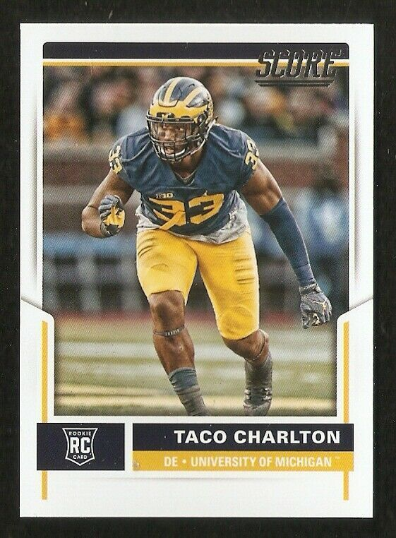 2017 Taco Charlton Rookie Score Football Trading Card 432 Universityofmichigan Football Trading Cards Taco Charlton Football Cards