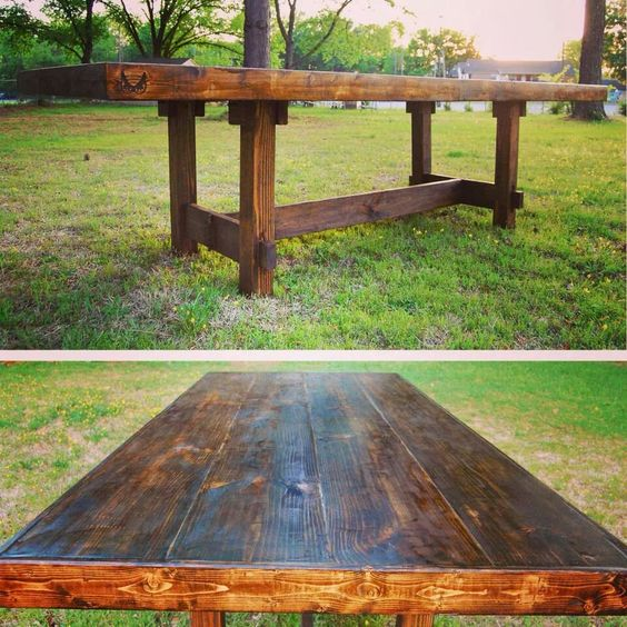 Wooden homemade Kitchen table