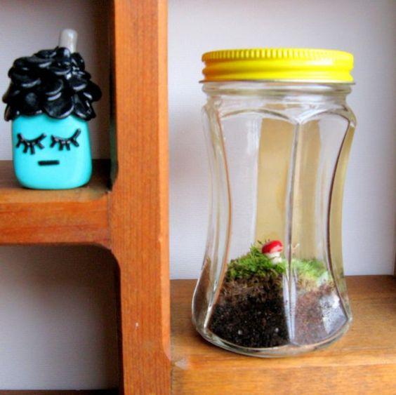 vintage jar #terrarium
