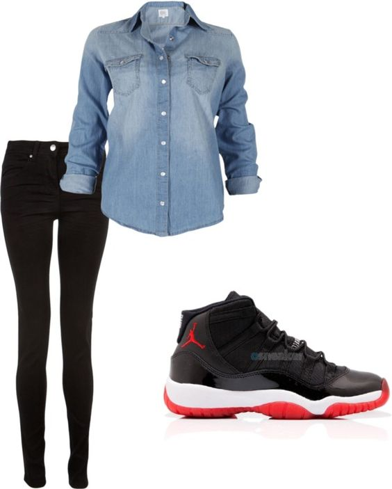 """Breds 11's"" by marinezandrea ❤ liked on Polyvore"