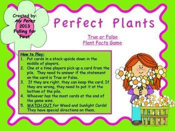 Perfect Plants Facts: True or False Game | Other, Plants ...