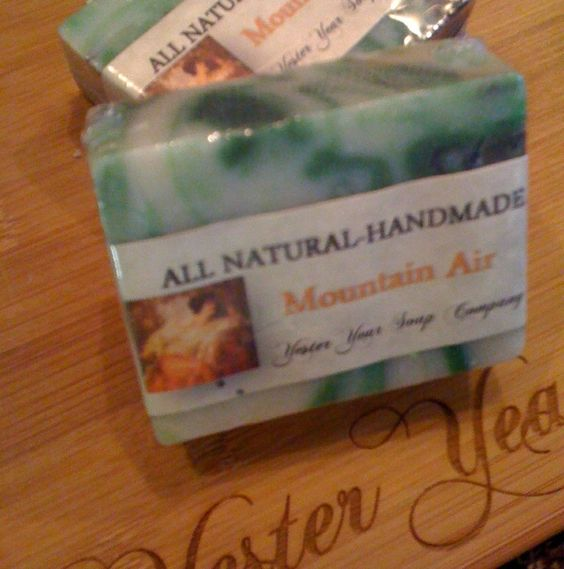 Mountain Air soap from the YesterYear Soap Company.