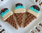 A Dozen Ice Cream Cone Cookies