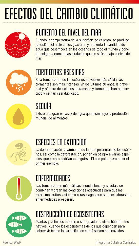 Debido al cambio climatico se ha modificado el ecosistema en la Ciudad de México y el mundo.