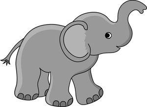 Free Baby Elephant Clip Art Image: Cute Little Baby Elephant Cartoon ...