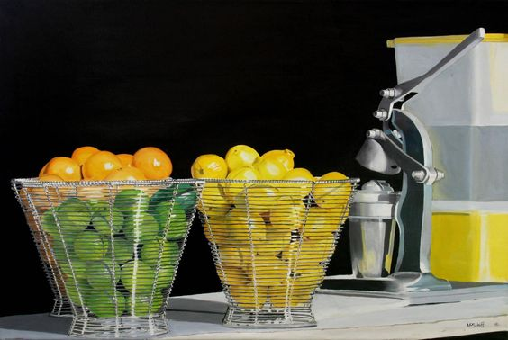 Sweet and SourFreshly Squeezed Juice, 2004.Mark Schiff. Oil on…