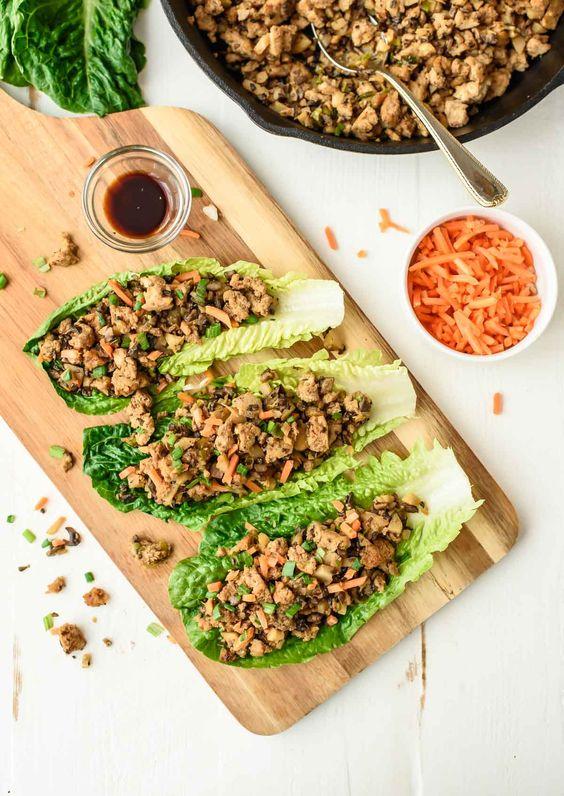 lettuce cups quorn hoisin mince in lettuce cups hoisin veggie tofu ...