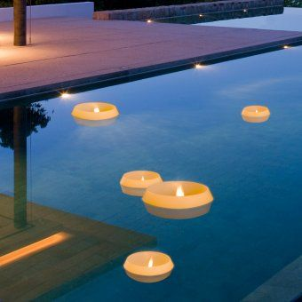 Floating Candles Candles And Pools On Pinterest