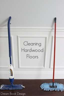 The best way to clean hardwood  floors. Two different tools that make all the difference on dreambookdesign.com