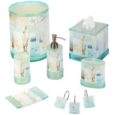 Avanti blue waters bath collection water collection for Bathroom accessories collection