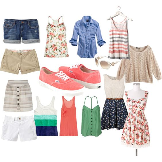 Outfit possibilities to wear with coral vans | Style | Pinterest | Vans outfit Pink converse ...