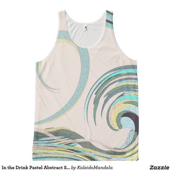 In the Drink Pastel Abstract Shirt