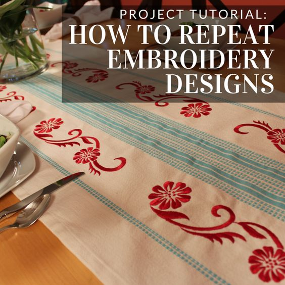 Get Embroidery Library's best tips and tricks for repeating embroidery designs.