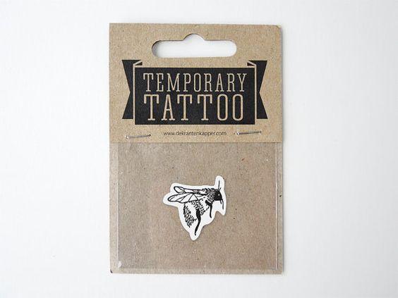 Bumblebee Temporary Tattoo by deKrantenkapper on Etsy