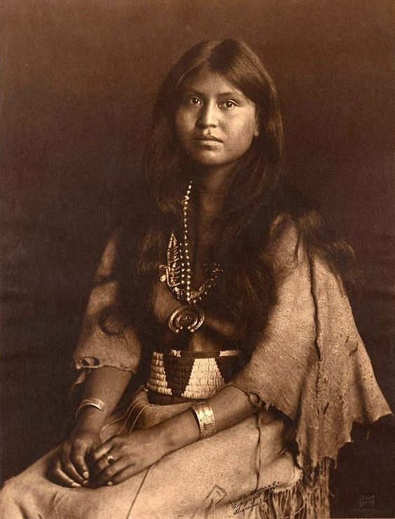 "2014-04-10-10.jpg  Loti-kee-yah-tede. ""The Chief's Daughter."" Laguna Pueblo, New Mexico. 1905. Photo by Carl E. Moon."