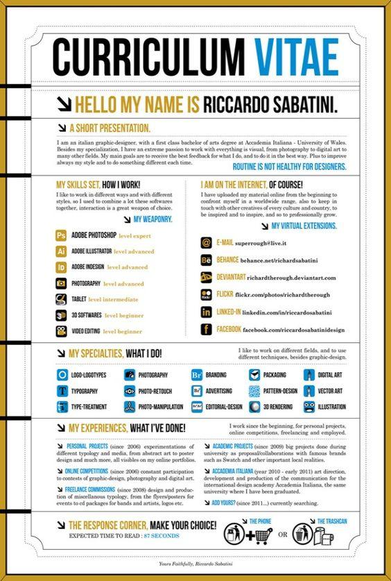 Curriculum Creativo   Curriculum   Pinterest   Lebenslauf