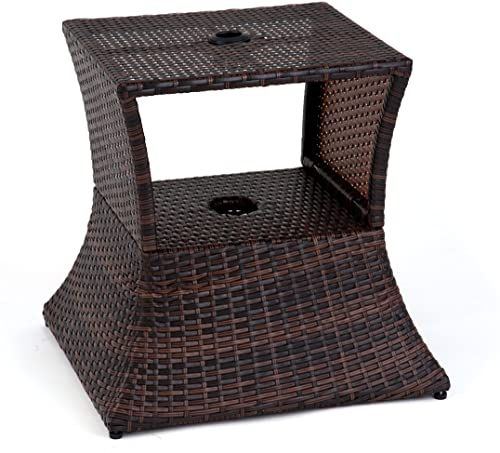 Best Seller Trademark Innovations 17 Square Pe Rattan Umbrella Stand Side Table Online Dining Arm Chair Hanging Canvas Rope Hammock