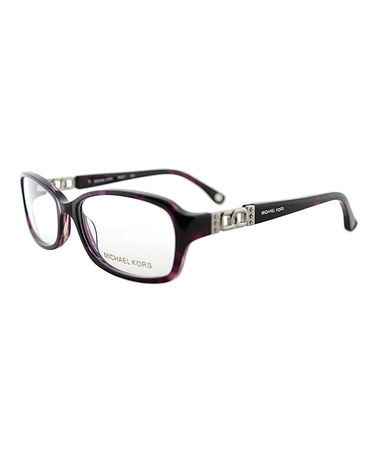 Look what I found on #zulily! Burgundy & Silver Square Eyeglasses #zulilyfinds
