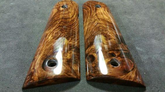 Honduran Rosewood Burl 1911 Grips Wood Grips