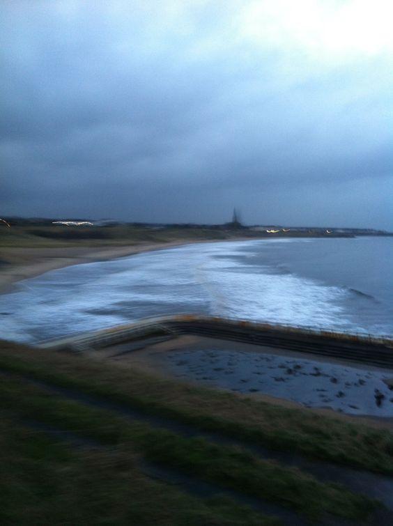 Tynemouth beach 7.30 am Thursday the 6 th of February 2014
