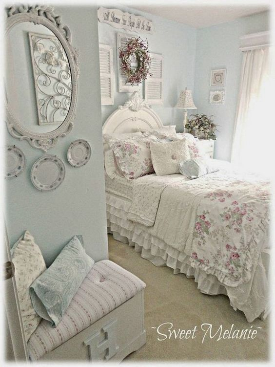 30 cool shabby chic bedroom decorating ideas wall