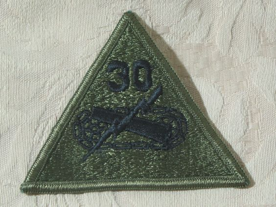 MILITARY SHOULDER PATCH 30th Armored Brigade Subdued Vietnam Era No Combat  Junk_593  http://ajunkeeshoppe.blogspot.com/