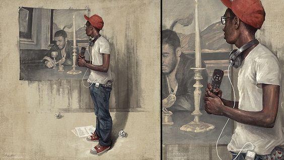Digital Illustrations by Sam Spratt (w/ Barack Obama, Jesse Pinkman, Kanye West, MJ, House, Gambino   Clip)