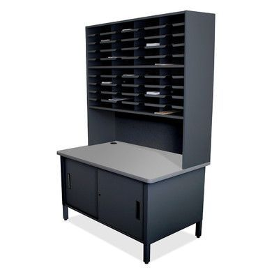 Marvel Office Furniture Mailroom 40 Slot Organizer with Cabinet Finish: